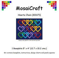MosaiCraft Pixel Craft Mosaic Art Kit 'Hearts Chain' Valentine Pixelhobby
