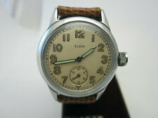 Vintage WW2 Elgin Military Wrist Watch