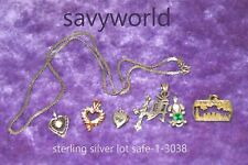 sterling pendant lot with sterling silver necklace 925 92.5