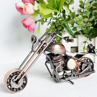 Handmade Scrap Metal Art Motorcycle Model Figurine Recycled Nuts Bolts Motorbike