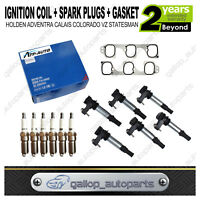 Ignition Coil&Spark Plugs Inlet Gasket set for Holden Commodore VZ Colorado RC