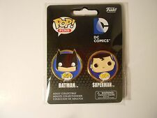 Funko POP! Lapel Pins BATMAN and SUPERMAN Set - DC Comics, Justice League, NEW