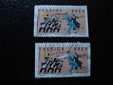 SUEDE - timbre yvert et tellier n° 2059 x2 obl (A29) stamp sweden