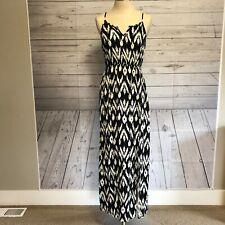 bebd260527f02 Papaya Maxi Dress Thigh High Slit Black/White Size M