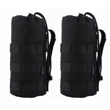 2pcs 1000D Tactical Molle Water Bottle Pouch Holder Carrier Military Hiking Bag