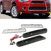 Car LED DRL Driving Daytime Running Light Fog Lamp For Mitsubishi ASX 2010-2012