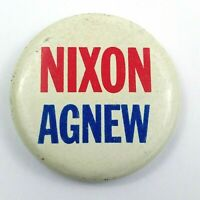 Vintage Nixon Agnew Political Pinbacks Collectible Button