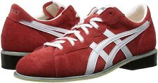 asics Weight Lifting Shoes 727 Red White & Blue White Leather In Japan