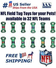 NFL Football Field Pet Toy for DOGS/ CATS. Heavy-Duty, Durable toy with Squeaker