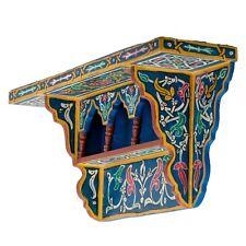 Painted Moroccan shelf, Wall Shelves Floating Shelves Blue ,Rustic Floating