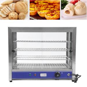 4-Tier Electric Counter Top Heated Display Cabinet / Food Warmer UK PLUG