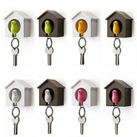 House Key Cute Bird Nest Sparrow Chain Keyring Plastic Whistle Wall Hook Holder