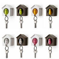 Likable Bird Nest Sparrow House Key Chain Ring Chain Wall Hook Holders Whistle