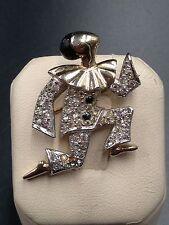 M Boucher Signed Brooch Ballet Of Jewels Dancing Pierrot 1949 #3046