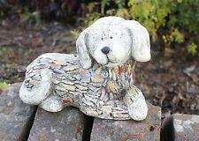 Stone Effect Dog Garden Ornament Outdoor Puppy Statue Animal Figure Xmas Gift