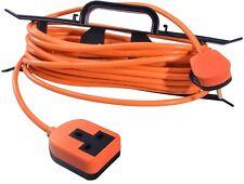 15 m 1 Socket orange jardin extérieur Extension Lead Heavy Duty Tondeuse 13 A H-FRAME