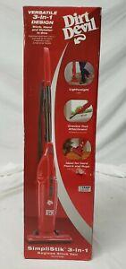 Dirt Devil Bagless Vacuum stick simplistik Red SD20000RED NEW IN BOX 3 in 1