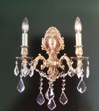 Crystal Chandelier Wall Sconce In Wall Lighting Fixtures Ebay