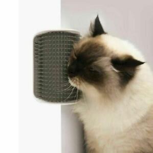 Cat Groomer Brush Grooming Toy With Catnip Wall Corner Self Pet Massage Comb New