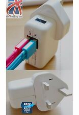 Dual Ports 2 USB Plug Wall Mains Charger Adapter iPhone 4 5s 6 iPad Mini PH014