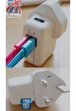 Dual Ports 2 USB Plug Wall Mains Charger Adapter iPhone 4 5s 6 iPad Mini PH013