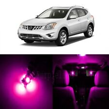 9 x Pink LED Interior Light Package For 2008 - 2013 Nissan Rogue + PRY TOOL
