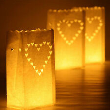 10PCS Heart Paper Lantern Candle Bag Light Holder Home Party Wedding Decor BBQ
