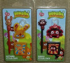 2 NINTENDO DS LITE DSi 3DS XL MOSHI MONSTER STYLUS PEN CASE TWIN PACK BRAND NEW