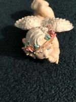 """""""Day Dreamer"""" Painted Resin Cherub Angel Would Be A Beautiful Decoration!!"""