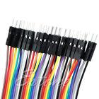 Male To Female Jumper Wire 10CM 40pcs Dupont Ribbon Cable Arduino UniqueNEW