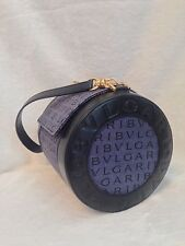 New BVLGARI DENIM, Blue Leather Round MAMMET Handbag
