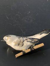Vintage Ceramic Bird Brooch Pin