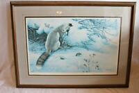 Signed Artist Proof 18 of 30 Neil J Blackwell Fox and Mouse Winter Scene