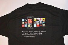 NEW BLACK WINDOWS PHONE ADVERTISING T-SHIRT! XBOX LIVE! COTTON! COLORFUL LOGO! L