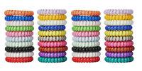 40 Spiral Plastic Hair Bands Baby Girls Ponytail Stretchy Elastic Bobbles Band