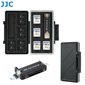 Memory Card Case Storage Holder + Card Reader fits 16 Micro SD SDXC SDHC Cards
