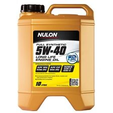 Nulon Long LIfe Full Synthetic Car Engine Oil 5W-40 10 Litre w/ Moly DTc