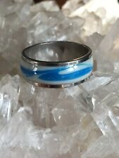Stainless steel With Angel ring size 7.5
