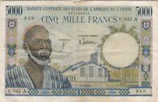 ETATS D'AFRIQUE DE L'OUEST-COTE D'IVOIRE : 5000 FRANCS DU 2-3-1965 - P.104Ad