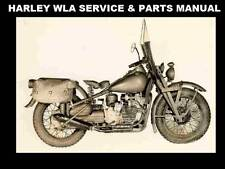 New listing Harley Davidson Wla Service & Parts Manuals 270pgs with Ww2 Motorcycle Repair