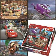Trefl Disney 4 in 1 70+54+48+35 Piece Jigsaw Puzzle For Kids Cars Set On Journey