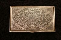 MAGNIFICENT  ISFAHAN SILVER BOX PRESENTED FROM FOREIGN MINISTER  MARKED