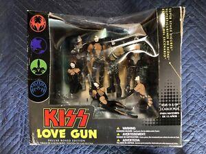 KISS Love Gun Deluxe Boxed Edition Action Figures McFarlane Toys 2004 Open Box..