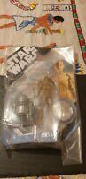 """STAR WARS MCQUARRIE CONCEPT C3P0 & R2D2 droids 4"""" action figures"""
