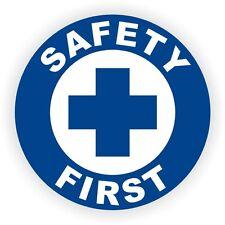Safety First Hard Hat Sticker  Decal  Helmet Label  Foreman Laborer Welder