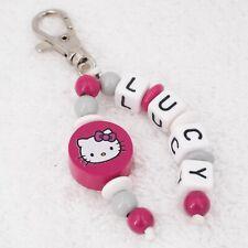Schlüsselanhänger Taschenbaumler mit Namen ☆ Mädchen ☆ Schule Kita Hello Kitty