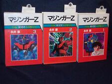 Mazinger Z Vol 1 2 3 Complete Set B/W Manga Japanese Go Nagai Sun Wide Comics