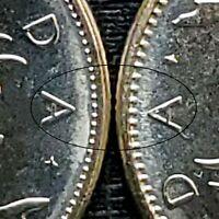Canada 1978 Large & Small Denticles Uncirculated BU Quarter Set!!