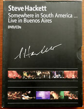 More details for steve hackett somewhere in south america… dvd + 2xcd signed – camdv29 – mint