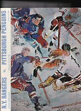 New York Rangers Program 1969 vs Pittsburgh Penguins Rod Gilbert